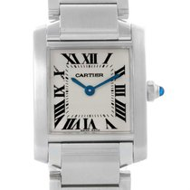 Cartier Tank Francaise Small Ladies Stainless Steel Watch...