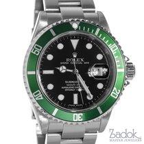Rolex Submariner Date Anniversary Green Bezel 16610LV D Serial...