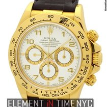 Rolex Daytona Zenith Movement 18k Yellow Gold White Dial S...
