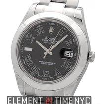 Rolex Datejust II Stainless Steel Black Roman Dial Ref. 116300