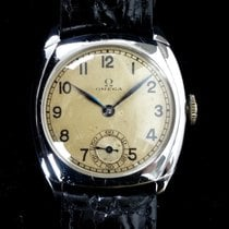 Omega Very RARE Cushion Steel Case (year 1937) Perfect Condition