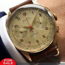 Breitling 38mm  Breitling Vintage Chronograph Cadette aus 18...