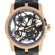 Roger Dubuis Excalibur Rose Gold Transparent Skull Automatic...