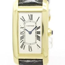 Cartier Polished Cartier Tank Americaine 18k Gold Quartz...