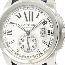 Cartier Polished Cartier Calibre De Cartier Steel Automatic...