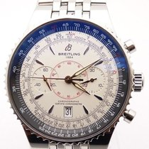 Breitling Montbrillant Legende 47mm White Dial Stainless Steel...