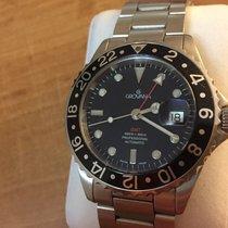 Grovana Swiss Automatic GMT Diver watch Black Bezel