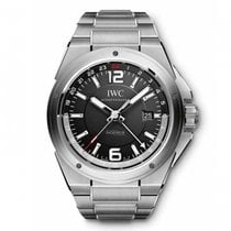 IWC Ingenieur Dual Time  Black Dial Automatic IW324402 Mens WATCH