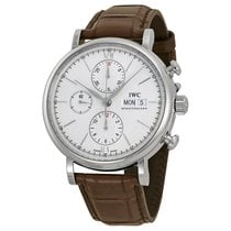 IWC Portofino Automatic Chronograph Silver Dial Mens Watch...