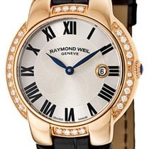 Raymond Weil Jasmine Rose Gold Plated Steel Diamond Womens...