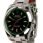 """Rolex MILGAUSS BLACK GREEN CRYSTAL - """"Random"""" SERIAL..."""