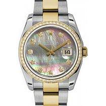 Rolex Datejust 36 116243-DMOPDDO Dark Mother of Pearl Diamond...