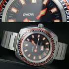 Enicar Sherpa STAR DIVER Automatic Day Date Steel Mens Watch