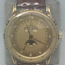 Omega Classic Triple Date Moon Phase YG All Original 35mm