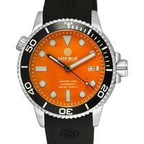 Deep Blue Master Diver 1000 Auto Watch Black Silicon Strap...