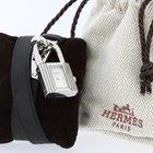 Hermès Kelly Watch Black Leather Strap Ref. KE1.210 Retail...
