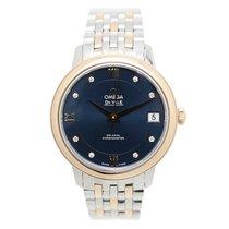 Omega De Ville 18k Rose Gold And Steel Blue Automatic 424.20.3...