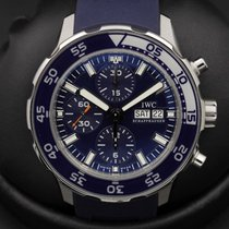 IWC Aquatimer - Stainless Steel - Chronograph - Blue Dial -...