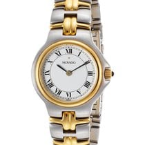Movado WATCH STYLE 9129 Two-Tone Roman Numerald Sapphire Glass...