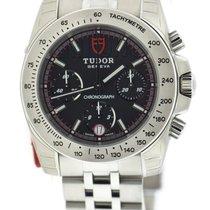 Tudor Sport Chronograph Black Dial Stainless Steel