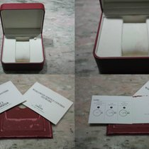 Omega vintage watch box red for  speedmaster moonwatch  papers