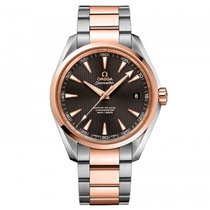 Omega Seamaster Aqua terra  Stainless Steel -  Red Gold Mens...