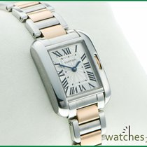 Cartier Tank Anglaise pinkgold steel Lady 3485
