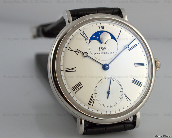 IWC Portofino Manual Wind Vintage Collection Moon Platinum NEW