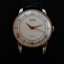 Buren Vintage 18k Pink Gold Grand Prix 50's