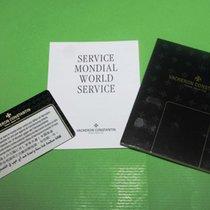 Vacheron Constantin vintage warranty card service and booklets
