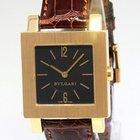 Bulgari Quadrato 18k Yellow Gold Black Dial Ladies Quartz...