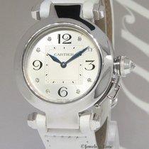 Cartier Pasha 18k White Gold Diamond 32mm Ladies Quartz Watch...