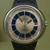 Omega vintage 1973 Dynamic 41 mm steel date blue and silver...
