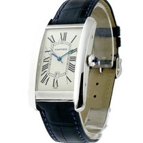 Cartier W2603256 Tank Americaine - Large Size - White Gold on...