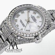 Rolex Datejust 26mm White Roman Dial Oyster Bracelet Ladies...