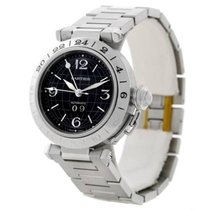 Cartier Pasha C GMT Black Dial Steel Automatic Men's Watch...