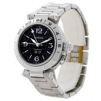Cartier Pasha C GMT Black Dial Steel Automatic Men's Watch...