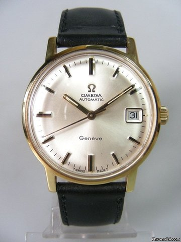 Omega Classique vintage or plaqu cadran silver