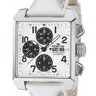 Fortis Square Chronograph White Stahl Automatik 38x38mm