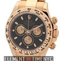 Rolex Daytona 18k Rose Gold Black Dial Ref. 116505
