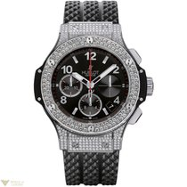 Hublot Big Bang 41 mm Steel Diamonds Rubber Pave Unisex Watch