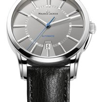 Maurice Lacroix Date Steel Case, Grey Dial, Silver Hands and...