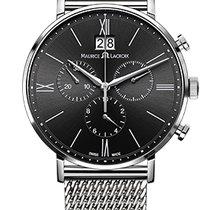 Maurice Lacroix Eliros Chronographe Black Dial, Steel Strap, Date