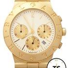Bulgari Diagono Chronograph 18K Yellow Gold 35mm White Dial Watch
