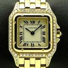 Cartier Panthere Lady Diamonds Case, yellow gold, full set