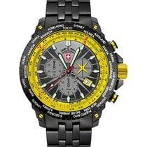 Swiss Military Hurricane Worldtimer Watch Timezone &...
