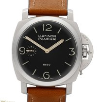Panerai Luminor 1950 47 mm Special Edition Leather Steel Men`s...