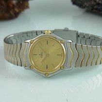 Ebel Mini Classic Wave Damenuhr Lady Stahl / Gold 24 Mm