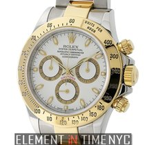 Rolex Daytona Steel & Yellow Gold White Dial F Serial...