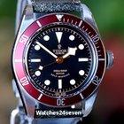 """Tudor Heritage Black Bay """"Red"""" on Strap Ref. 79220R"""